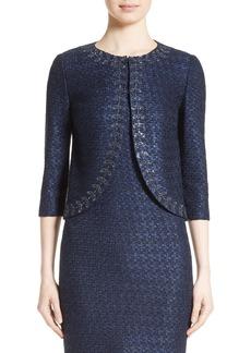 St. John Collection Jiya Sparkle Knit Jacket