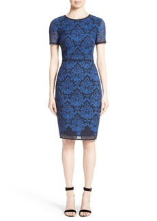 St. John Collection Kamala Embroidered Mesh Dress