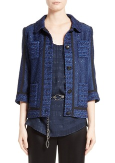 St. John Collection Khari Sequin Embellished Knit Jacket