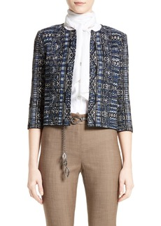 St. John Collection Kian Tapestry Knit Jacket