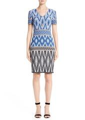 St. John Collection Kiara Geo Knit Dress