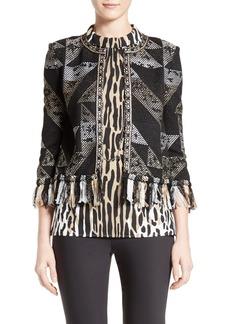 St. John Collection Kiyala Fringe Knit Jacket