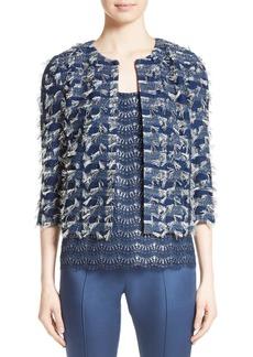 St. John Collection Lackshan Fil Coupé Tweed Jacket