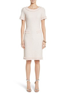 St. John Collection Lais Metallic Tweed Sheath Dress