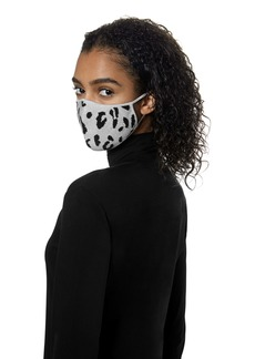 St. John Collection Leopard Pattern Silk Blend Knit Adult Face Mask
