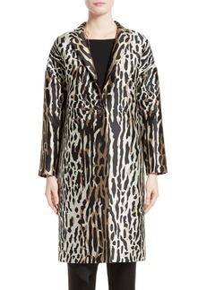 St. John Collection Leopard Jacquard Topper