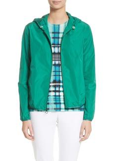 St. John Collection Lightweight Taffeta Hooded Jacket