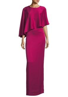 Liquid Crepe Popover Gown