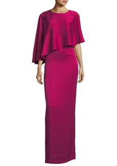 St. John Liquid Crepe Popover Gown