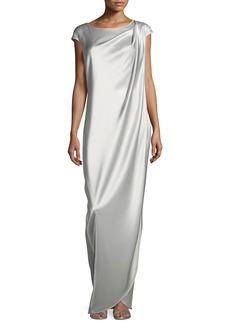 St. John Liquid Satin Gown