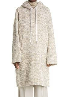 St. John Collection Long Bouclé Hoodie Sweater