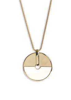St. John Collection Long Circle Pendant Necklace