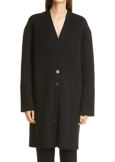 St. John Collection Long Wool & Cashmere Cardigan