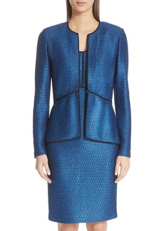 St. John Collection Luster Sequin Knit Jacket