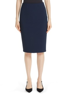 St. John Collection Luxe Sculptural Knit Pencil Skirt