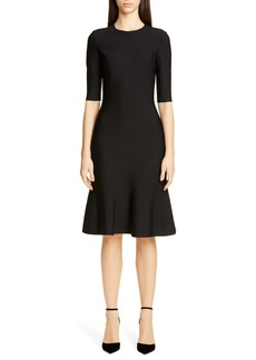 St. John Collection Luxe Sculpture Elbow Sleeve Dress