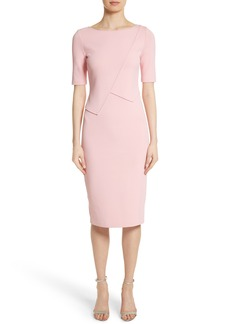 St. John Collection Luxe Sculpture Knit Sheath Dress