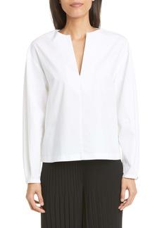 St. John Collection Luxe Stretch Poplin Shirt