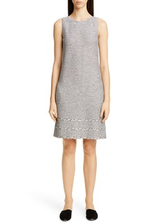 St. John Collection Luxury Crepe Tweed Knit Dress