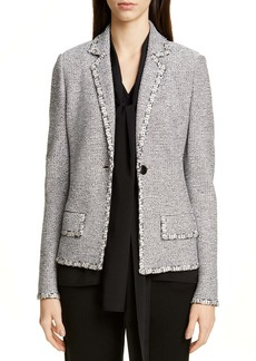 St. John Collection Luxury Crepe Tweed Knit Jacket