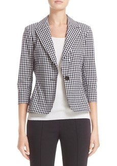 St. John Collection Macro Gingham Stretch Jacket