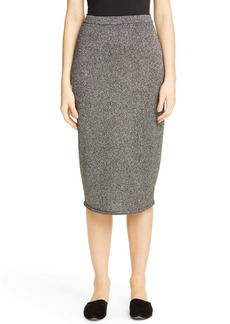 St. John Collection Marled Link Knit Skirt