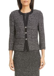 St. John Collection Marled Ribbon Tweed Knit Jacket
