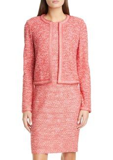 St. John Collection Marled Space Dye Tweed Knit Jacket