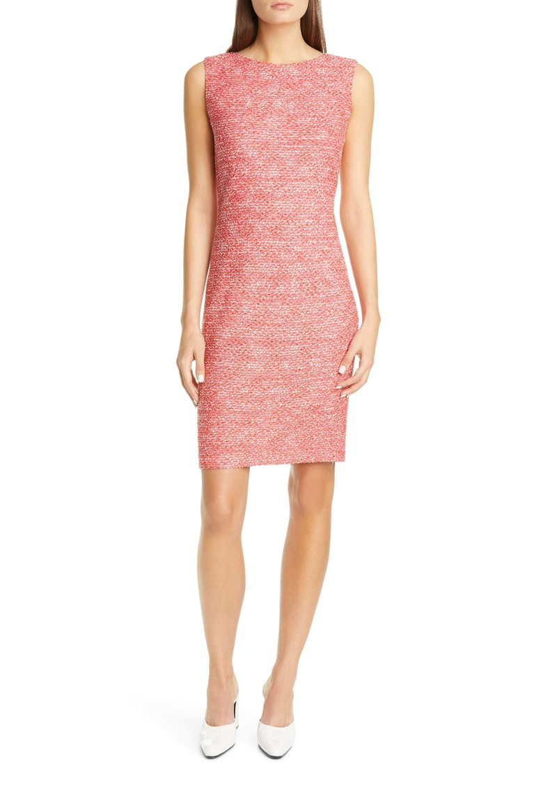 St. John Collection Marled Space Dyed Tweed Knit Dress