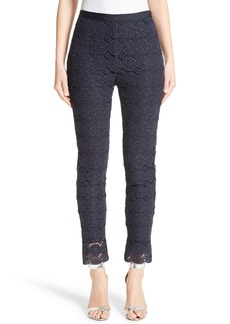 St. John Collection Metallic Guipure Lace Pants
