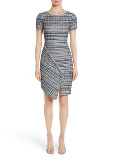 St. John Collection Metallic Jacquard Dress