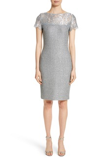 St. John Collection Metallic Sequin Knit Dress
