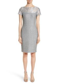 St. John Collection Metallic Sequin Knit Dress