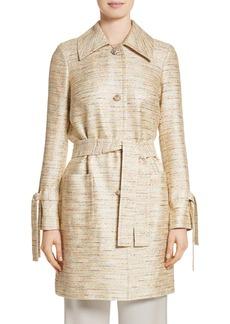 St. John Collection Metallic Tweed Coat