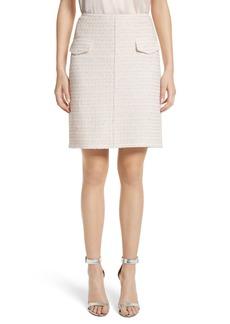 St. John Collection Metallic Tweed Skirt