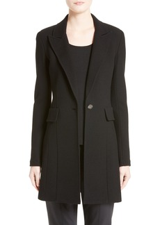 St. John Collection Micro Bouclé Knit Blazer