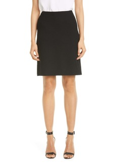 St. John Collection Micro Floral Knit A-Line Skirt