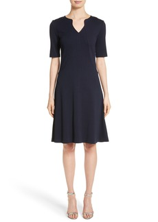 St. John Collection Milano Knit A-Line Dress
