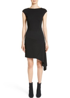 St. John Collection Milano Knit Asymmetrical Dress