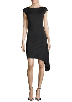 Milano-Knit Bateau-Neck Dress