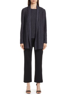 St. John Collection Milano Knit Side Slit Crop Pants