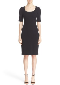 St. John Collection Milano Piqué Knit Scoop Neck Dress