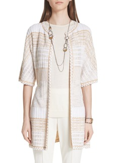St. John Collection Mixed Floats Stripe Knit Jacket