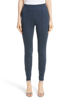 St. John Collection Mélange Stretch Ponte Crop Pants