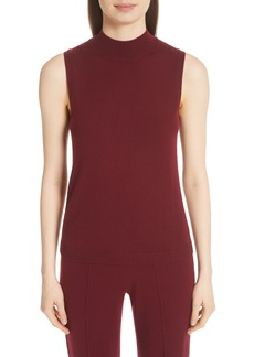 St. John Collection Mock Neck Cashmere Shell