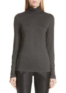 St. John Collection Mock Neck Jersey Top