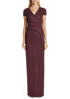 St. John Collection Mod Metallic Knit Gown