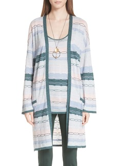 St. John Collection Modern Heritage Chain Knit Cardigan