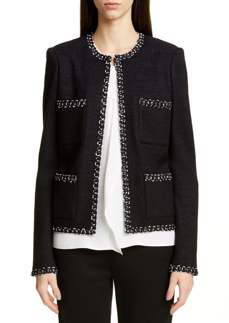 St. John Collection Modern Ribbon Tweed Knit Jacket