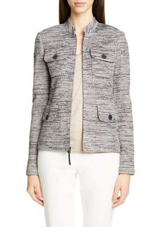 St. John Collection Modern Ribbon Tweed Knit Jacket